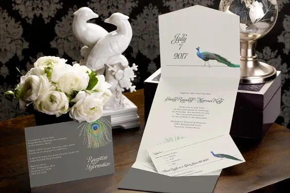 Unique Pocket Wedding Invitation