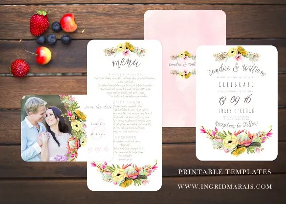 15 Wedding Reception Invitation Templates Free PSD JPG