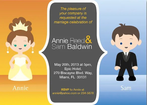 Funny Wedding Invitation Personalized With Bride And Groom