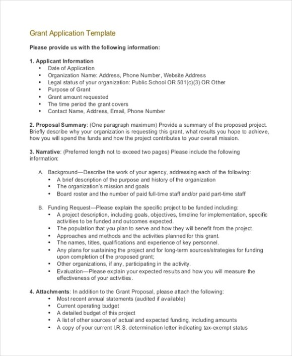 Grant Application Templates - 6+ Free Word, PDF Download ...