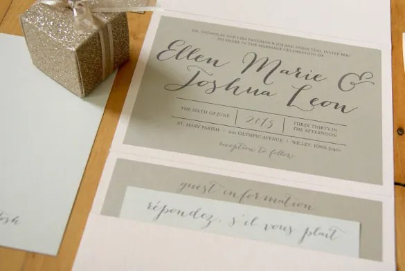 Diy Tutorial Stamped Nautical Tri Fold Wedding Invitation Suite By Antiquaria For Oh So