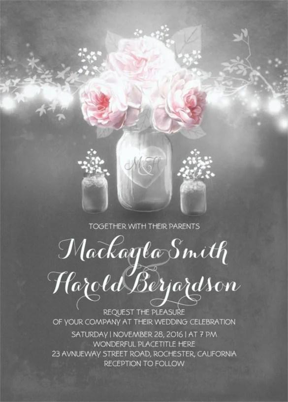 26 Chalkboard Wedding Invitation Templates Free Sample