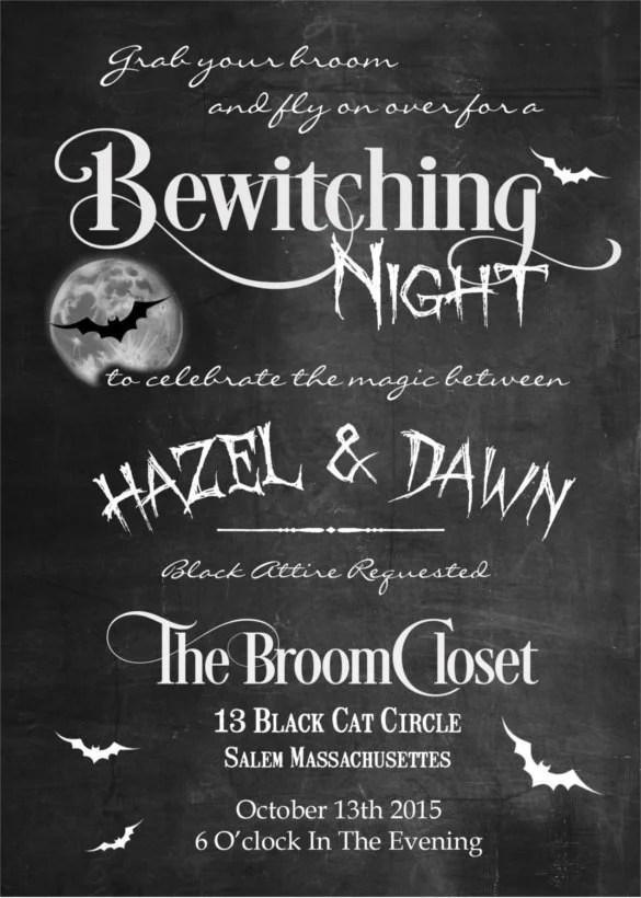 halloween wedding invitation templates