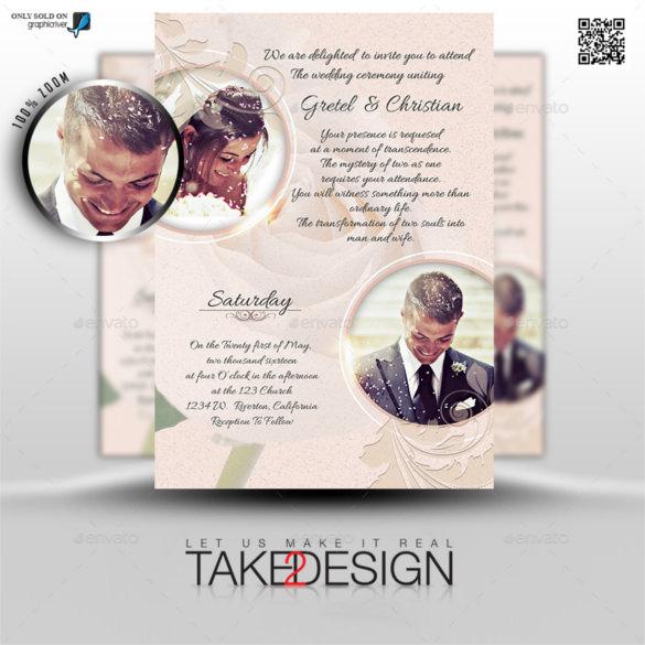 2 Clic Traditional Wedding Invitations 12