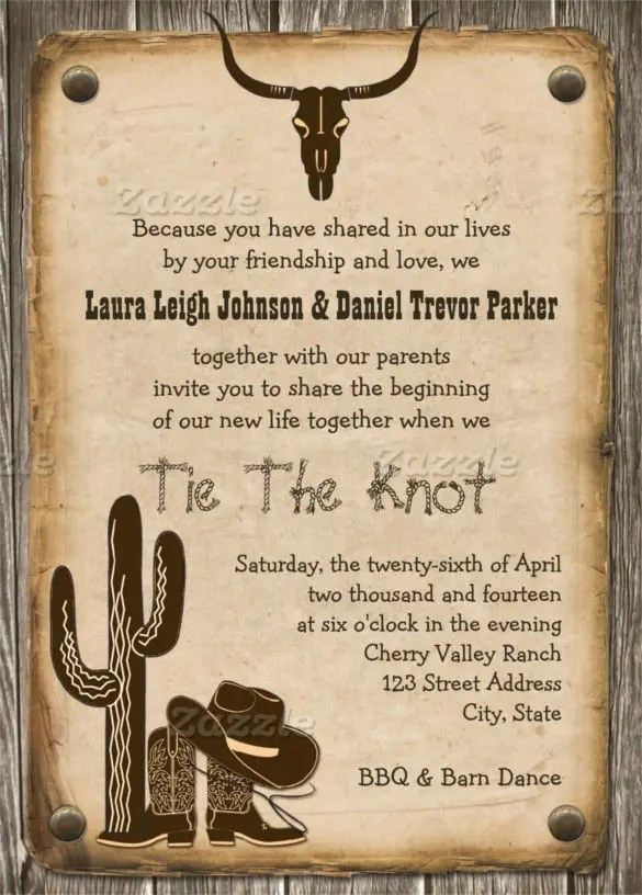 Western Party Invitation Template party invitations free western – Free Western Wedding Invitation Templates