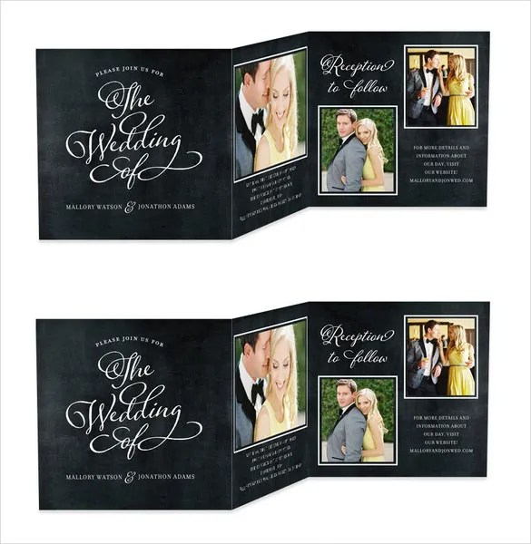 21 Trifold Wedding Invitation Templates Free Sle Exle