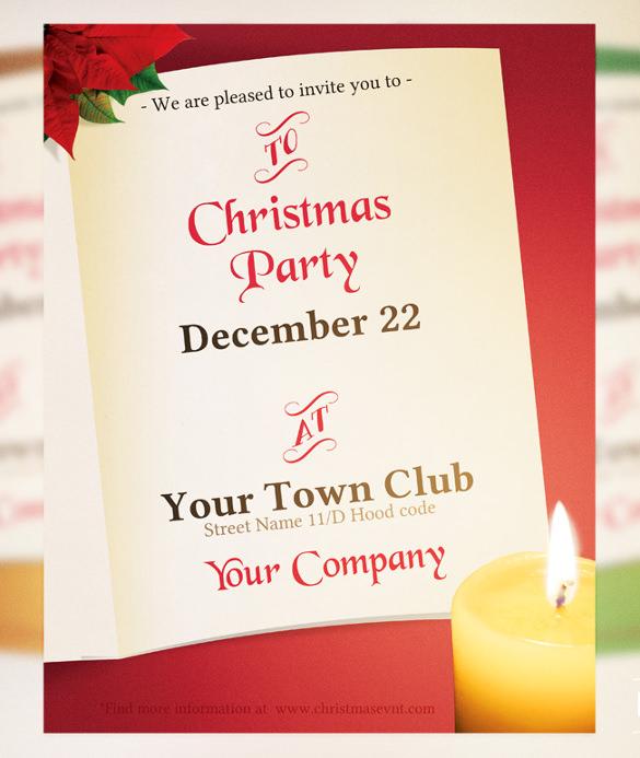 20 Christmas Invitation Templates Free Sample Example