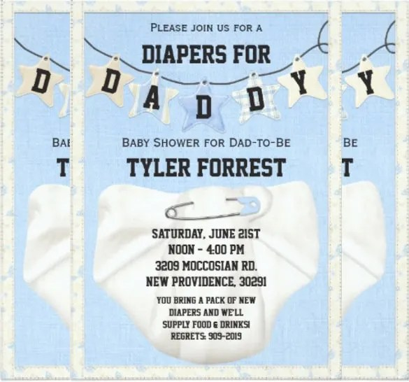 10 Diaper Invitation Templates Free Sample Example