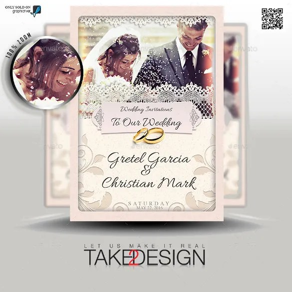 The Second Marriage Wedding Invitation Template