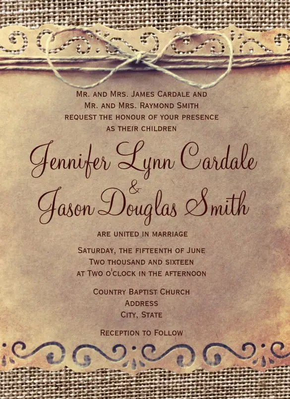 20 Second Marriage Wedding Invitation Templatesfree Sle