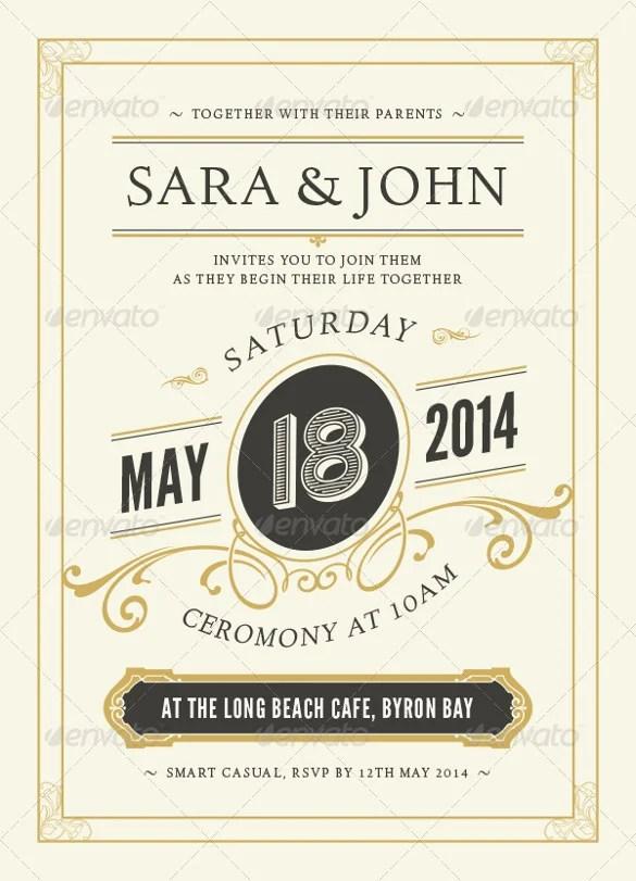 Design Wood Wedding Invitation