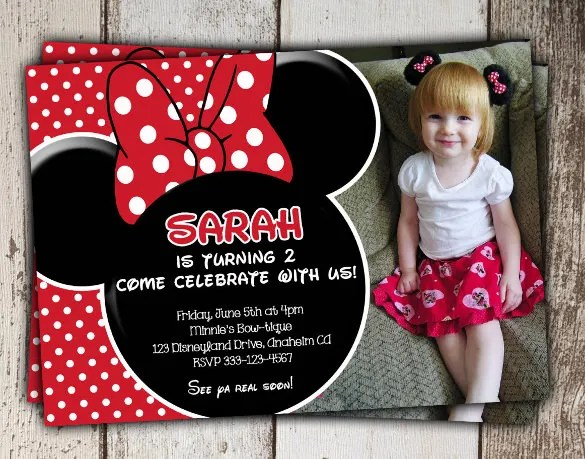 21 Minnie Mouse Invitation Templates Ai Psd Word