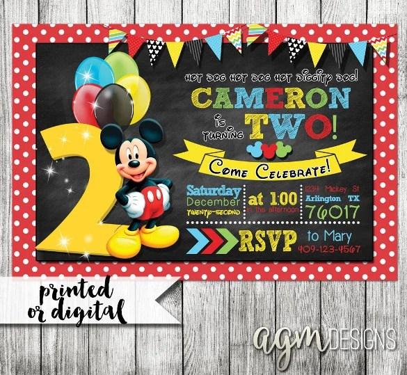 31 Mickey Mouse Invitation Templates Free Sample