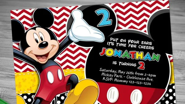 31 Mickey Mouse Invitation Templates Free Sample Example Format Download Free Premium Templates