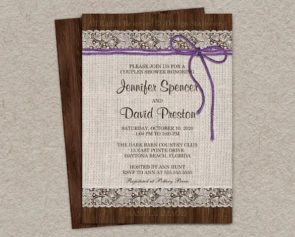 Rustic Wedding Shower Invitations Mixed With Your Creativity Will Make This Looks Awesome 10