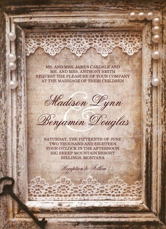 28 Rustic Wedding Invitation Design Templates PSD AI Free Amp Premium Templates
