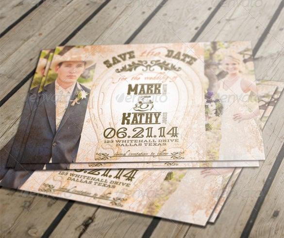 Western Style Rustic Wedding Invitation