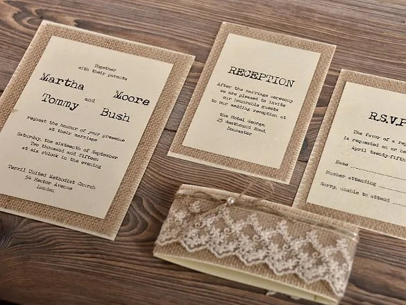 Rustic Diy Wedding Invitations Easy