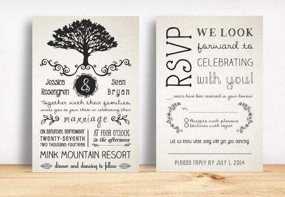 Rustic Wedding Invite Template 25 rustic wedding invitation – Free Printable Rustic Wedding Invitations