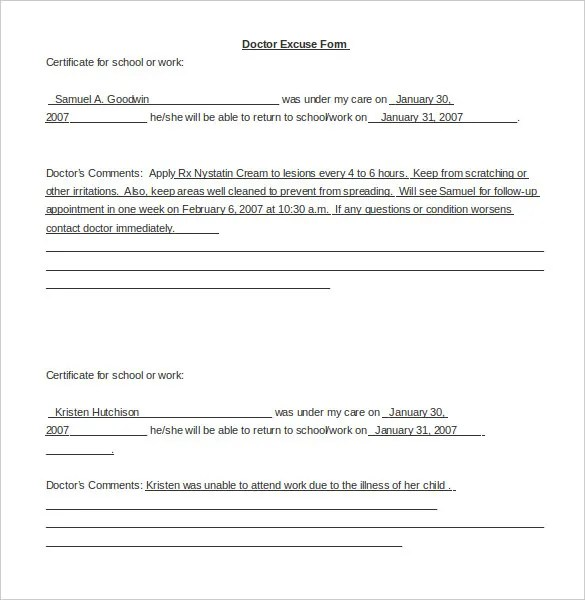 Doctor Doctor Letter Template