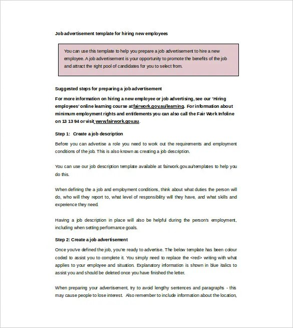 job advertisements template. websites. 10 hiring advertisement, Invoice templates