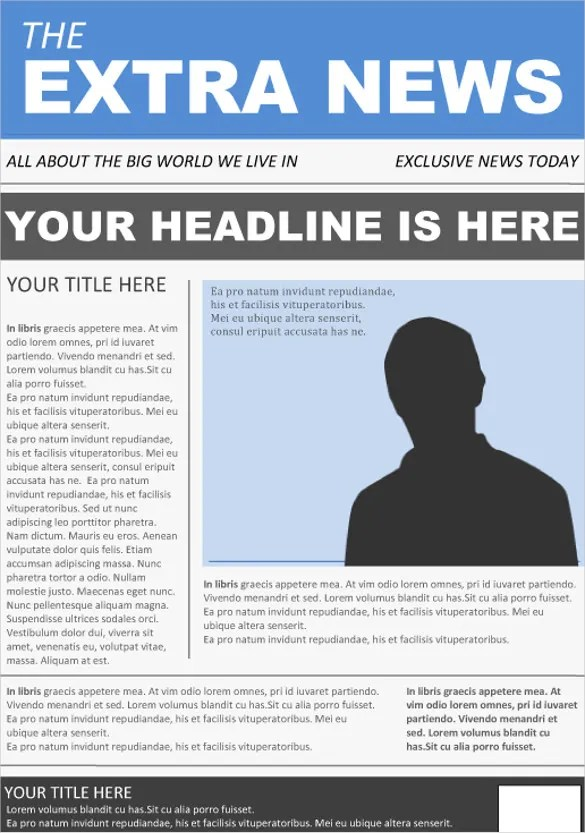 Front Page Newspaper Template Free Download