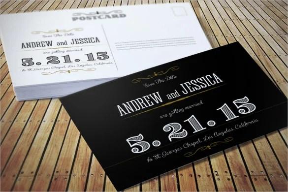 Elegant Clique Wedding Invitation Postcard