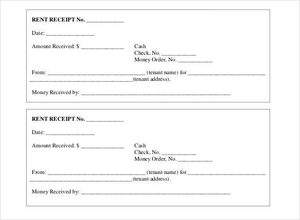 35 Rental Receipt Templates Doc Pdf Excel Free