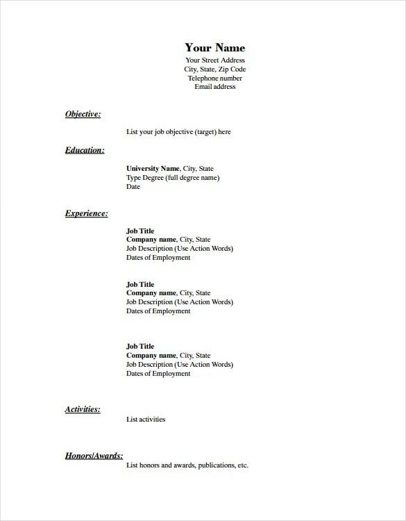 Basic Job Resume. Resume Examples Customer Service Resume