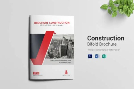 Brochure Template Word   41  Free Word Documents Download    Free     Editable Construction Bi Fold Brochure Template