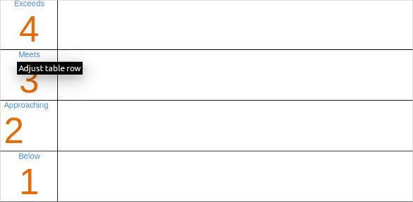 Rubric Template Word 13 microsoft word jeopardy templates – Blank Rubric Template
