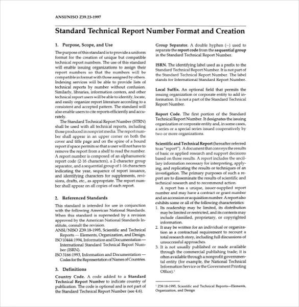 technical report template the 2 column report template is. seo ...