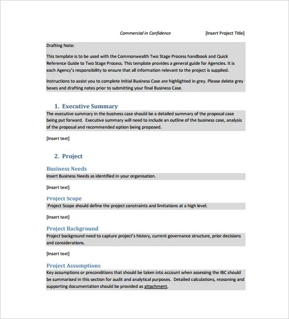 12 Business Case Templates Free Sample Example Format