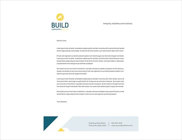 Construction Company Letterhead Template 11 Free Word PDF Documents Download Free