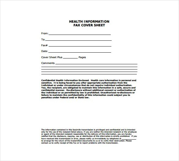 Doc432561 Fax Form Template Free Fax Cover Sheet Template – Fax Form Template Free