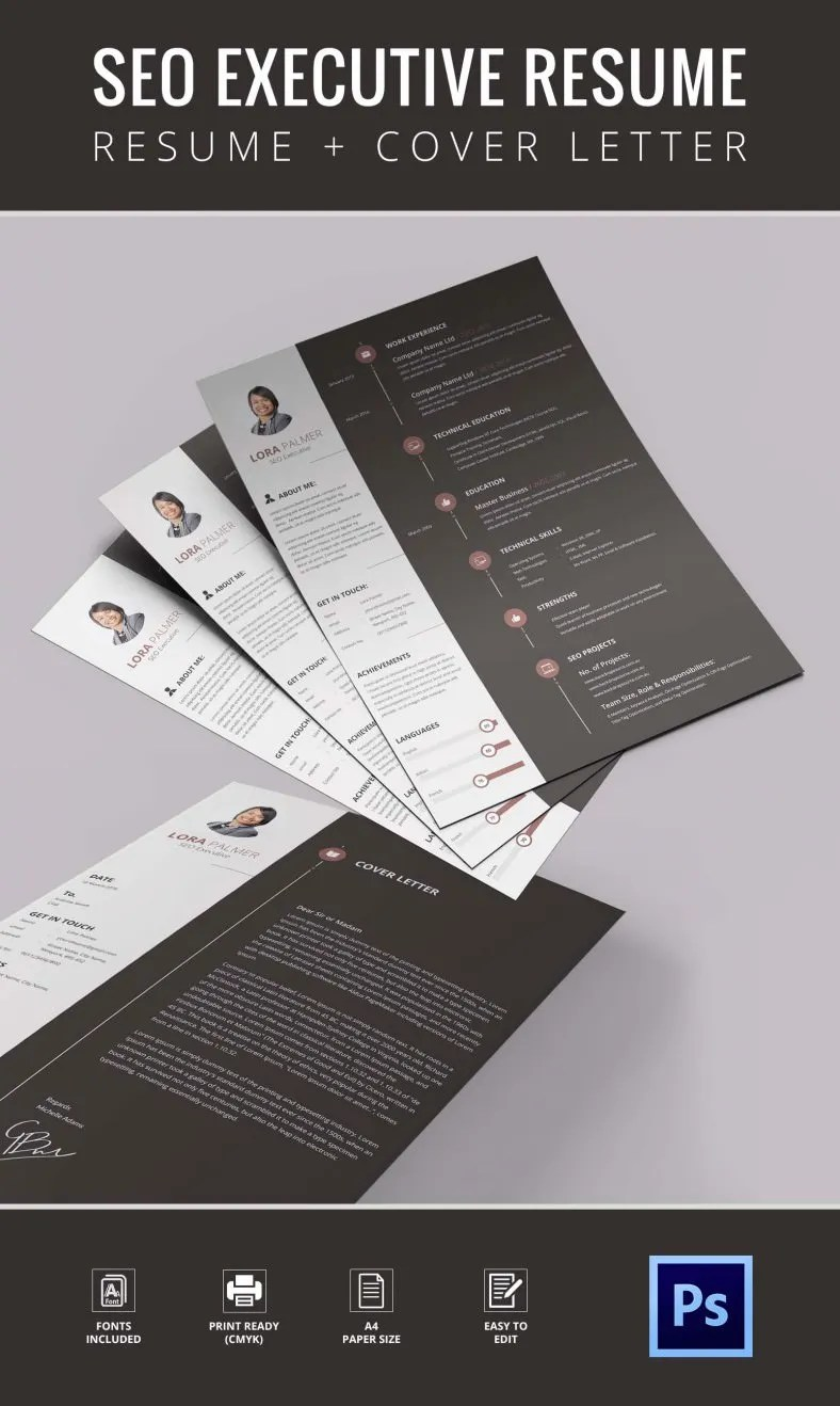 seo resume template 12 free samples examples format download