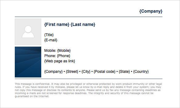 32 Gmail Signature Templates Samples Examples Format