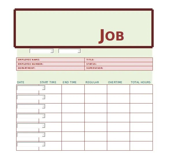 Job Sheets Template job sheets template applications forms – Job Sheet Format Excel