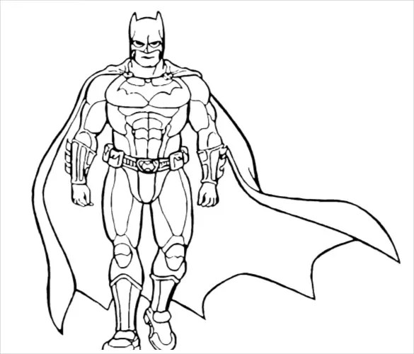 18 Batman Coloring Pages PSD AI Vector EPS Free