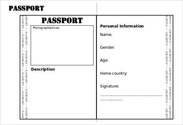 passport template worksheet education com. us passport application ...