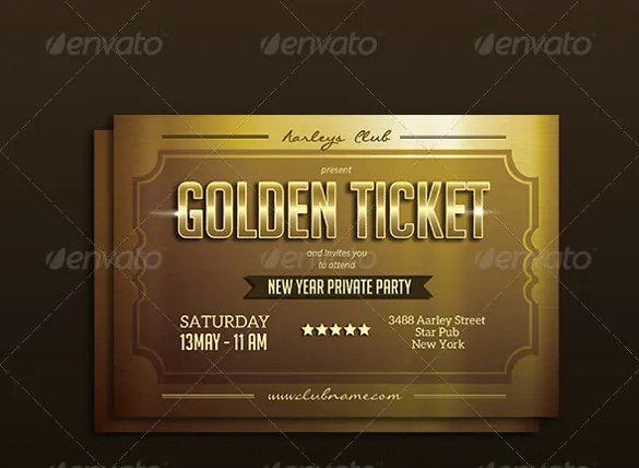 61 Ticket Invitation Templates PSD Vector EPS AI