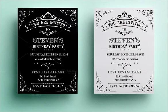29 Birthday Invitation Templates Free Sample Example
