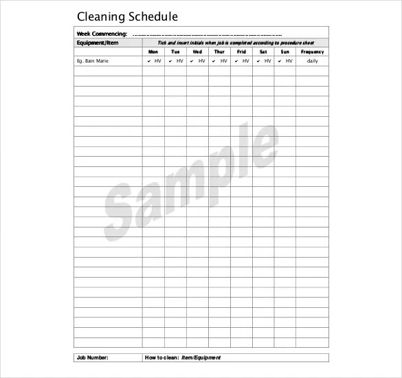 Search Results For Master Cleaning Schedule Template Calendar 2015
