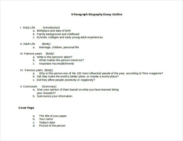 Free Autobiography Template autobiography outline template 17 – Autobiography Template
