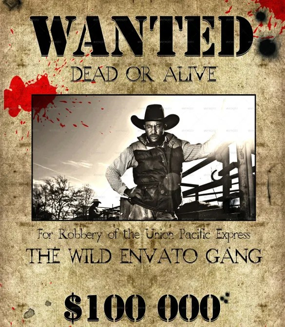 Wanted Poster Template Dead