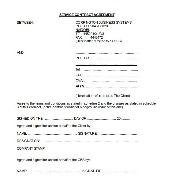 24 Contract Agreement Templates Word Pdf Pages Free