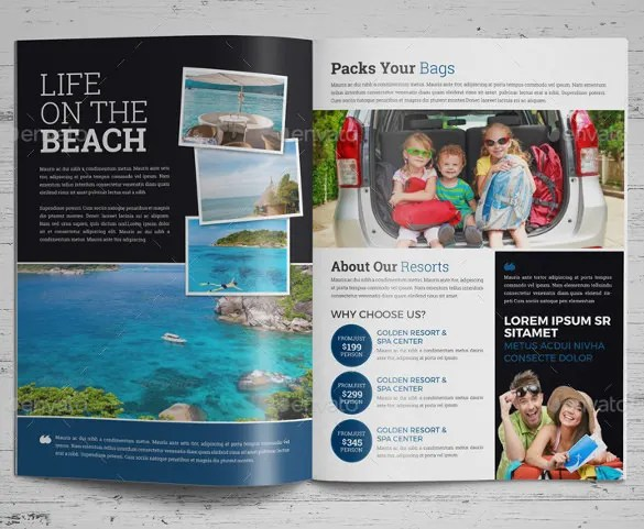 Travel Brochure Template Free. Free Tri Fold Brochure Templates