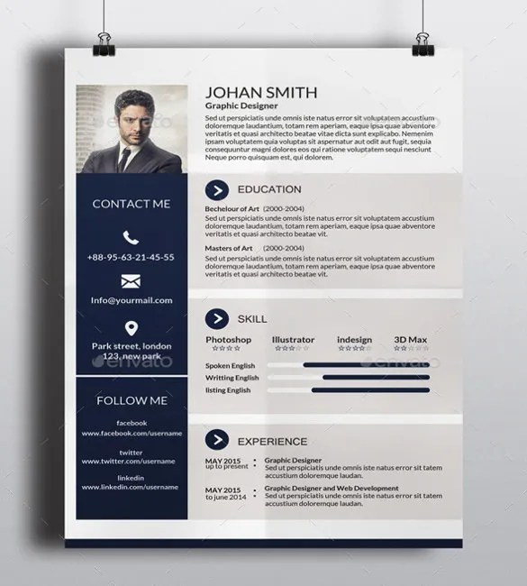 resume page