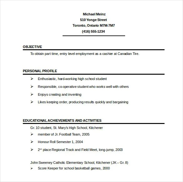 resume templates free samples examples amp formats download free