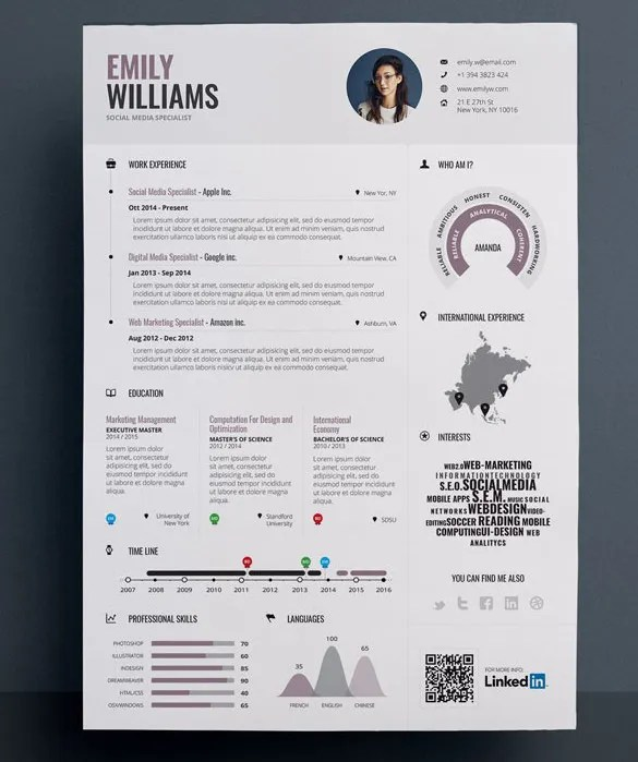 Infographic Resume Template Microsoft Word. creative infographic ...